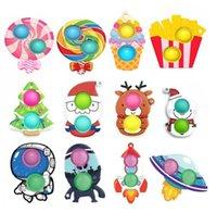 DHL Rápido Forma de Árvore de Natal Push Up Bubble Kids Fidget Toy Party Favor Adulto Abóbora Antistress Hand Squishy Sensory Toys 2021 MT13