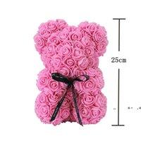 Rose Teddy Bear Fiori di sapone artificiale a madri regalo Girlfriend Anniversary Christmas San Valentino Compleanno compleanno FWE9440