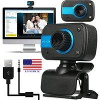 Registrazione video della webcam della webcam da rete HD USB w / microfono per PC Laptop Desktop C0042 USA