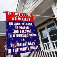 30 * 40см Трамп Садовые флаги 2024 Кампания баннер Баннер льна двойной печати Трамп Флаг DHL Бесплатная доставка