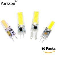 Birnen 10pcs LED-Lampe G9 G4 G4 DC 12V / AC 220V COB-Licht 3W 6W 9W für Indoor-Pendelleuchten Quelle 360 Winkellampe Ersetzen Halogen
