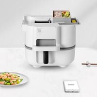 Electric Stir-Frying Wok Machine Automatic Multifunction Cooking Pot EU AU UK US Plug Skillets