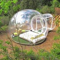 الخيام والملاجئ سعر المصنع نفخ فقاعة خيمة el للخارجية pvc قبة شفافة مع مروحة 3 متر / 4 متر / 5 متر