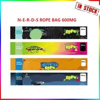 NEW MEDICATED Rope Empty Packaging Bas Bag 600mg Nerdsrope Gummy Bags Three edge-sealing foil Food package DHL free Fast Delivery