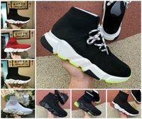 2021 Designer Mens Socke Schuhe Plattform Damen Turnschuhe Speed Trainer Triple Black White Blue Beige Klassiker mit Spitze Jogging Walking Outdoor Größe 36-45