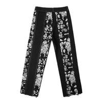 Yüksek Kiryaquy Erkekler Lüks Paisley West Crips Kanlar Kot Pamuk Kot Pantolon Comfort Casual S-XL # D1 erkek