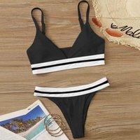 Women's Swimwear 2021 Sexy Solid Bikini Women Swimsuit Push Up Low Waist Brazilian Bathing Suit Two Piece Bodysuit Female #G3