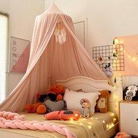 아기 침대 캐노피 텐트 키즈 모기 그물 침대 소녀 공주 돔 침구 커튼 룸 장식 1