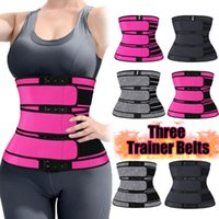 Sweat Body Shaper Belts Three Waist Trainer Belt Shaping Col...