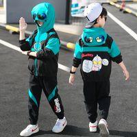 Abbigliamento ultramiano Ragazzi Vestiti da primavera Vestito 2021 Nuovo Bello stile occidentale Medio e grande Bambina Bambini da due pezzi Sport Sport Stile coreano Tide
