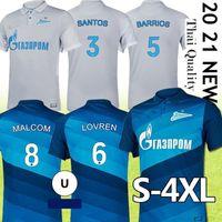 Thai Fc Zenit Home Blue Soccer Jersey 2021 10 DZOUBA 7 Azmoun Футбольные рубашки 27 Оздоев Униформа S-4XL