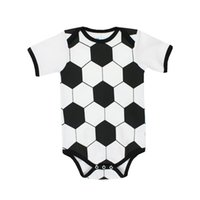 2018 2019 New Soccer Ball Baby Jerseys Toddler Coton Chemises de football Bodysuits Enfants Classic Eusebio garçons Broadclothsoccer Jersey