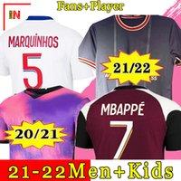 20 21 maglia da calcio MBAPPE NEYMAR JR VERRATTI 2020 2021 MARQUINHOS KIMPEMBE PSG maglie calcio calcio kit per bambini .