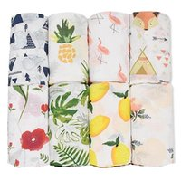 Blankets & Swaddling 120X120cm 100%Cotton Swaddle Infant Organic Wrap Muslin Baby Bedding Towel For Borns Blanket