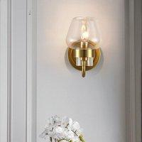 Amerikan postmodern minimalist İskandinav led bakır duvar lambası yaratıcı art deco retro aydınlatma oturma odası yatak odası başucu
