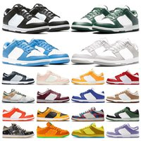 أحذية رياضية مكتنزة باللون الأحمر للجامعة أحذية رياضية منخفضة للرجال باللون الأبيض والأسود والبرتقالي واللؤلؤ والبرتقالي من سيراكيوز باللون الأخضر الفاتح للنساء