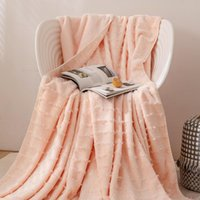 بطانيات Bonenjoy 1 قطعة لينة الشرابة السرير بطانية بلون سميكة الفانيلا ل أريكة الملك الحجم الفراش الشتاء (لا وسادة)