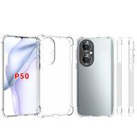 Для Huawei P50 P50 Pro P30 Lite Full Clear Anti Chast Soft Gel TPU Cover Cover Cover