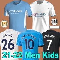 Manchester Futbol Forması 21 22 G. JESUS man city Şehir Sterling Ferran De Bruyne Kun Aguero 2021 2022 Futbol Gömlek Adam Üniforma Erkekler + Çocuk Seti