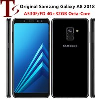 Refurbished Original Samsung Galaxy A8 18year A530F Dual single SIM 5.6 inch Octa Core 4GB RAM 32GB ROM 16MP Unlocked 4G LTE Smart Mobile Phone 1pcs