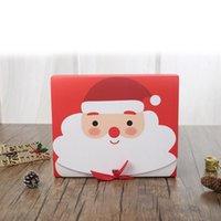 Caja de regalo grande de la víspera de Navidad Santa Claus Diseño de hadas Kraft Present Party Favor Activity Box Red Green Gifts Cajas de paquete DHL envío