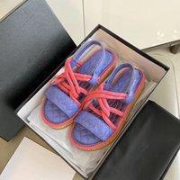 Sandalet Deri Katılabilen Moda Yaz Kişilik Trend El Yapımı Saman Halat Düz Kaymaz Kauçuk Alt