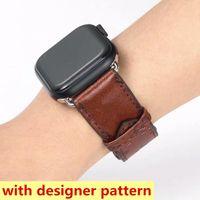 أزياء مصمم أحزمة ووتش ل iwatch Series 1 2 3 4 5 6 أعلى جودة الجلود النطاقات الذكية ديلوكس معصمه watchbands تكنولوجيا يمكن ارتداؤها