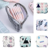 Storage Bags Portable Mini Sanitary Napkin Bag Women Cotton Travel Makeup Zipper Coin Purse Wallet Small Cosmetic