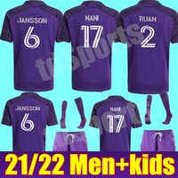 Hombres Kit Kits 2021 2022 Orlando City Soccer Jersey MLS 21 22 Inicio Nani Pato Akindele Mueller Moutinho Ruan Kljestan Johnson Camisas de Fútbol