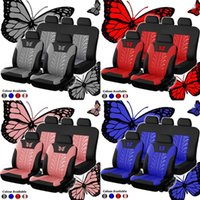 9pcs set Car Universal Seat Covers Set Butterfly Pattern Auto Seat Protector New