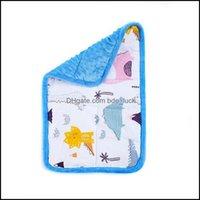 Bettwaren Babybettwäsche Baby, mutterssensorische Rundenkissenblau Minky Stoff Punkte Dino druckt gewichtete Decken für Kinder mit Autismus ADHS