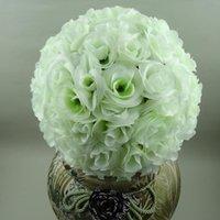 """10 """"(25 cm) Yapay Çiçek Topu İpek Gül Düğün Öpüşme Topları Pomander Parti Centerpieces Dekorasyon Ücretsiz Teslimat"""