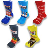 Men's Socks Animal Cartoon Letter Cotton Soft And Comfortable Skateboard Middle Tube Street Wind Fashion Gifts