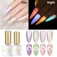Luminous Gel Nail Polish Glow In The Dark Soak Off UV LED Fluorescent Neon Semi-Permanant Varnish Art Super Top
