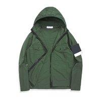 Topstoney 2021 Konng Gonng Primavera y otoño Nueva Chaqueta con capucha delgada Versión avanzada Marca de moda Trench Coat