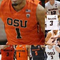 Custom Oregon State Beavers Basketball-Trikots Payto TRES Tinkle Thompson Kelley Reichle Hollinsa.c. Grüner Barry Gary Payton II