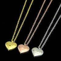 Sommerdesign Hohe Qualität Extravagant Schmuck Mode Herz G Anhänger Halskette Edelstahl Gold Silber Rose Plattiert für Mädchen Frauen Großhandel