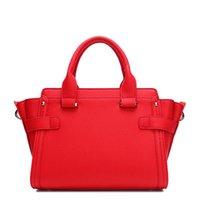 Bolso de lujo Europa Bolso rojo de las mujeres de gama alta y de la boda / de moda del estado del diseñador de negocios Bolsas de la cintura United Cowhide CTEWM