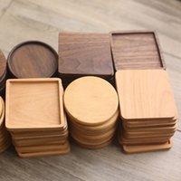 دائم الوقايات الخشب المفارش جولة مقاومة للحرارة مشروب ماتس الجدول الشاي القهوة كوب وسادة عدم الانزلاق أكواب حصيرة منصات العزل WLL426