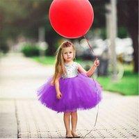 Ins Balet Dziewczynek Cekiny Księżniczka Suknie Dziewczyna Tutu Gaza Dress Kid Backless Bowknoty Suknie Letnie Party Nosić Ślubne ubrania E22705