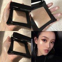 Shimmer Tone Highlighter Face Brighten Glitter Makeup Monochrome Blusher Powder Palette Cosmetic private label