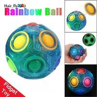 Luminous Stress Reliever Magia Bola de Arco-íris Divertido Puzzle Educação Brinquedo Para Crianças Adultos Fidget Toy Hy04