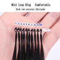 Gerade Remy Vigin Micro Loop Ring Human Hair Extensions Micro Perlen-Links Maschine gemacht Haarverlängerung 20 Farben