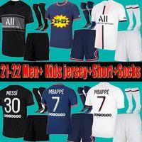 Men Kids PSG Paris saint germain kits 21 22 Fußball-Trikot 2021 2022 Mbappe Hakimi  NEYMAR Shirt JR Männer Kinder Sätze einheitliche maillot de foot Paris hommes