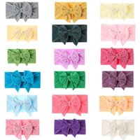 Baby Hairs Accessories nylon Butterfly Hair Band child skin soft high elastic dovetail kids Bows headbands 9214