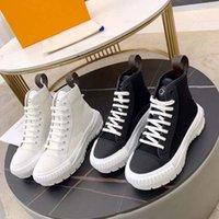 New High Top e Low Top Casual Shoes Lattice Pattern Platform classico Designer di lusso in pelle Skateboard Scarpe da uomo e donna Scarpe sportive da uomo Shoe008 220-1