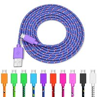 1m 2m Phone Charge Cables Nylon Braided Android USB Micro Da...