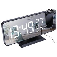 Smart Home Control LED Large Screen Display Temperature And Humidity Electronic Clock Radio Multifunctional Projection Alarm