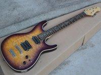 Electric guitar tiger purple circle transparent yellow five transparent pickups guard plate