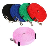Dog Collars & Leashes 15m 20m 30m 50m Leash Super Long Adjustable Training For Dogs 10m Strong Pet Large Black Pink